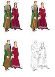 Gotisk formell klänning 2 Arkivbilder