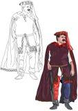 Gotisk formell klänning 1 Arkivfoto