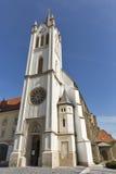 Gotisk Franciscan församlingkyrka i Kezsthely, Ungern royaltyfri foto