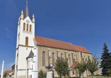 Gotisk Franciscan församlingkyrka i Kezsthely, Ungern arkivfoton