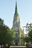 Gotisk gammal kyrka Arkivfoto