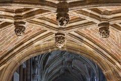 Gotisk inre av det abbay Fotografering för Bildbyråer
