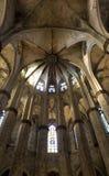 gotisk interior för barcelona domkyrka Royaltyfria Foton