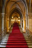 gotisk interior för slott Royaltyfria Foton