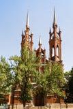 Gotisk katolsk kyrka i Samara arkivbild