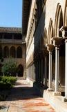 Gotisk kloster av den Pedralbes kloster Arkivbilder