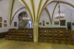 gotisk korridor Arkivfoto