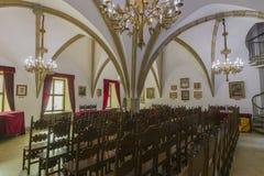 gotisk korridor Arkivbilder