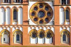 Gotisk kupol i Limburg, Tyskland Arkivfoton