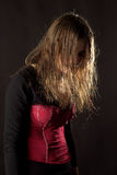 gotisk kvinna Arkivfoto
