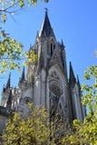 Gotisk kyrka fotografering för bildbyråer