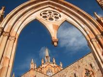 Gotisk kyrka Arkivbild