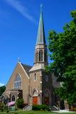 Gotisk kyrka i Bellingham, WA på Sunny Day royaltyfria foton