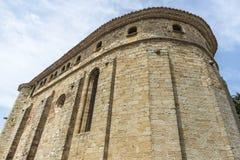 Gotisk kyrka i Catalonia Arkivbild