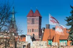 Gotisk kyrka i Torun, Polen Royaltyfria Bilder