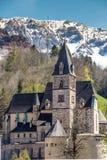 Gotisk kyrkaSt Oswald- Eisenerz, Styria, Österrike arkivbild