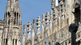 Gotisk kyrklig domkyrka Milan Italy arkivfoto