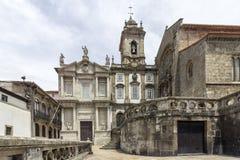 Gotisk kyrklig fasad för gränsmärke av helgonet Francis Igreja de Sao Fra Royaltyfri Bild