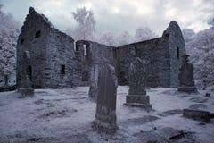 gotisk kyrkogård arkivfoto