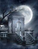 gotisk kyrkogård 5 vektor illustrationer