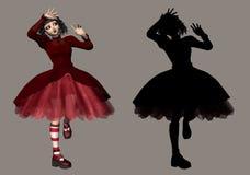 gotisk lolita royaltyfri illustrationer