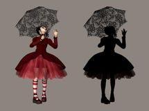 gotisk lolita Arkivfoto