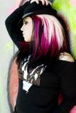 gotisk model punk för mode Arkivbild