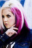 gotisk model punk för mode arkivfoto