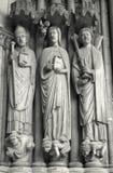 gotisk paris för detalj portal Arkivbild
