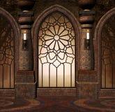 Gotisk port för fantasi royaltyfri illustrationer