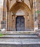 gotisk portal Arkivfoton