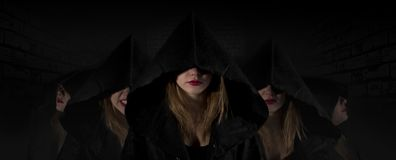 Gotisk priestesssekt royaltyfri foto