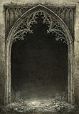 gotisk ram royaltyfri illustrationer