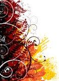 gotisk regnbåge för höst royaltyfri illustrationer