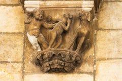 Gotisk sculture i Dubrovnik Royaltyfri Fotografi