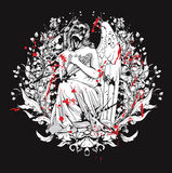 gotisk skjorta t för design Arkivfoton