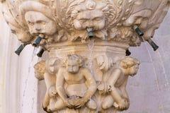 Gotisk skulptur i Dubrovnik Royaltyfri Bild