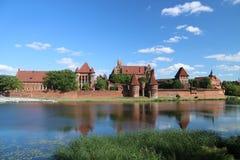 Gotisk slott i Malbork, Polen Arkivbild