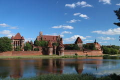 Gotisk slott i Malbork, Polen Royaltyfri Bild