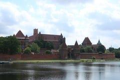 Gotisk slott i Malbork, Polen Arkivfoton