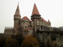 Gotisk slott i Transylvania Royaltyfri Foto