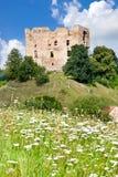 Gotisk slott Krakovec från 1383 nära Rakovnik, Tjeckien royaltyfria bilder