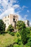 Gotisk slott Krakovec från 1383 nära Rakovnik, Tjeckien arkivfoto
