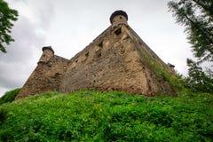 Gotisk slott Stara Lubovna Arkivfoto