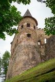 Gotisk slott Stara Lubovna Royaltyfri Bild