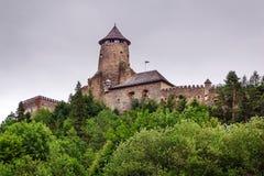 Gotisk slott Stara Lubovna Royaltyfria Bilder