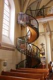 Gotisk spiraltrappuppgång Royaltyfri Fotografi