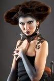 gotisk stående för härlig brunett Royaltyfri Fotografi
