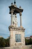 Gotisk staty på bron Royaltyfria Bilder