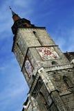 Gotisk stilarkitektur av svarta kyrkan i den Brasov staden Royaltyfri Bild